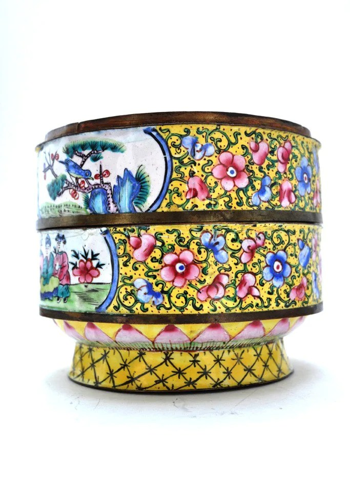 Vintage Hand Painted Bento Box