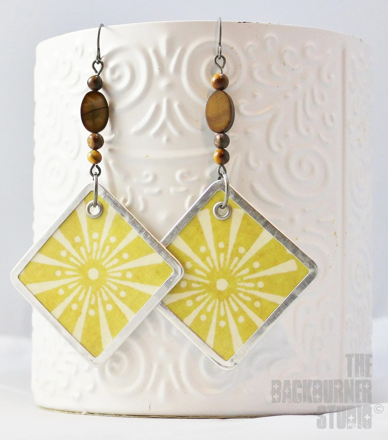 earrings yellow white sunnyside