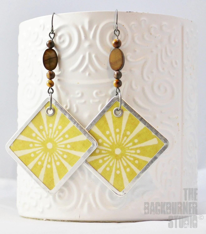earrings yellow white sunnyside