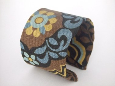Brown and Blue Fabric Cuff