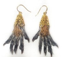 Althouse: Squirrel feet earrings.