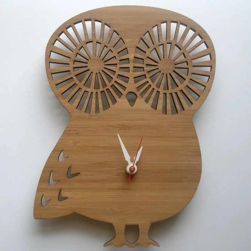 Modern Animal Clock - Owl