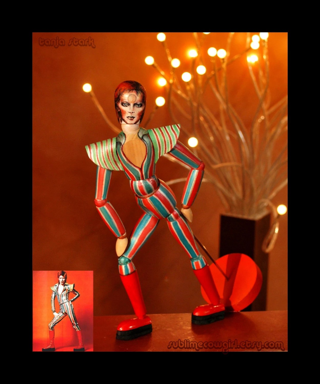 David Bowie Art Mannequin No.1 The Funky Funky Ziggy Stardust Doll by Sublimecowgirl