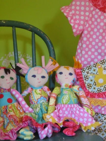 Boutique Euro Dolly........Ready to Ship.......PINK Scrappy Doll.....