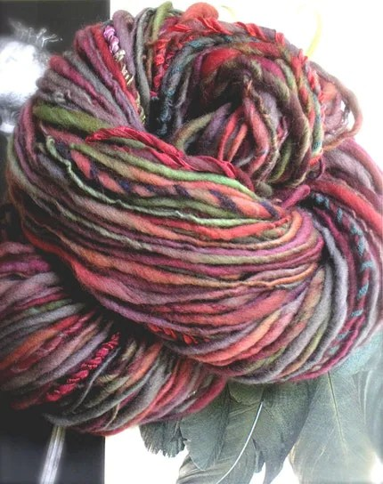 CHILI CHAR -Handspun and Handpainted Gypsy Yarn by Pancake and Lulu