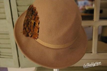 Vintage 1970's Camel Wool Hat