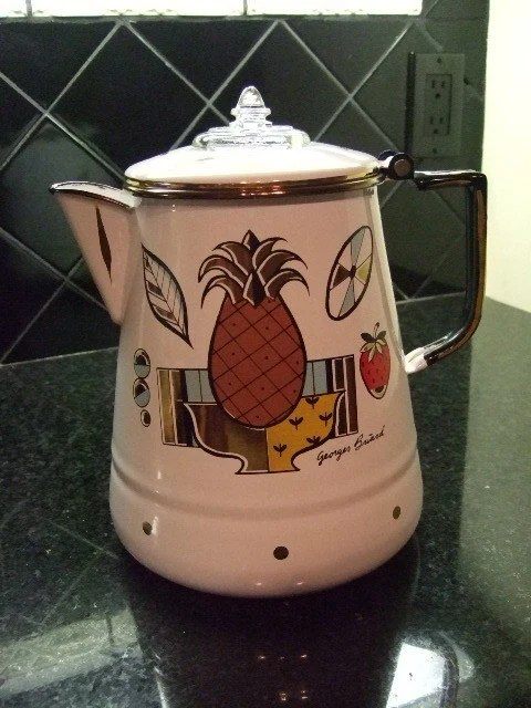 Georges Briard Enameled Coffee Percolator