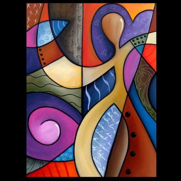Whats Mind - Original Abstract Modern Cubist Art