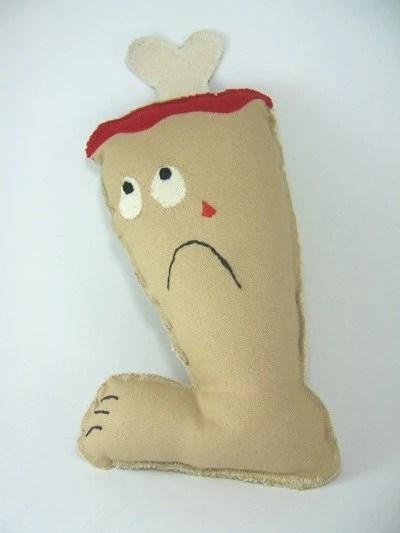 Severed Leg Dog Toy