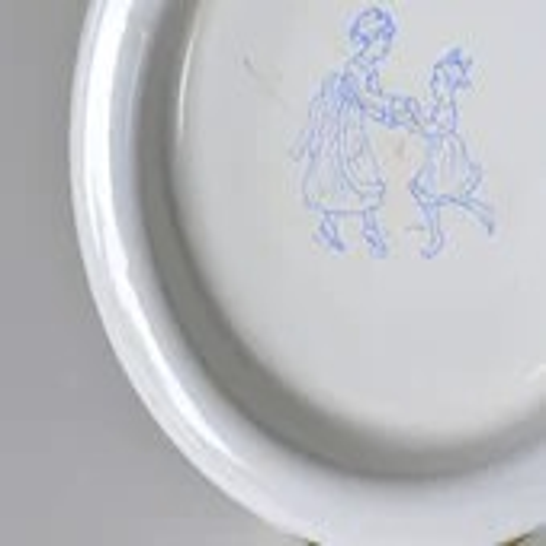 vintage kockums sweden baby bowl enamelware