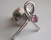 Pink Cancer Survival Ribbon Pins