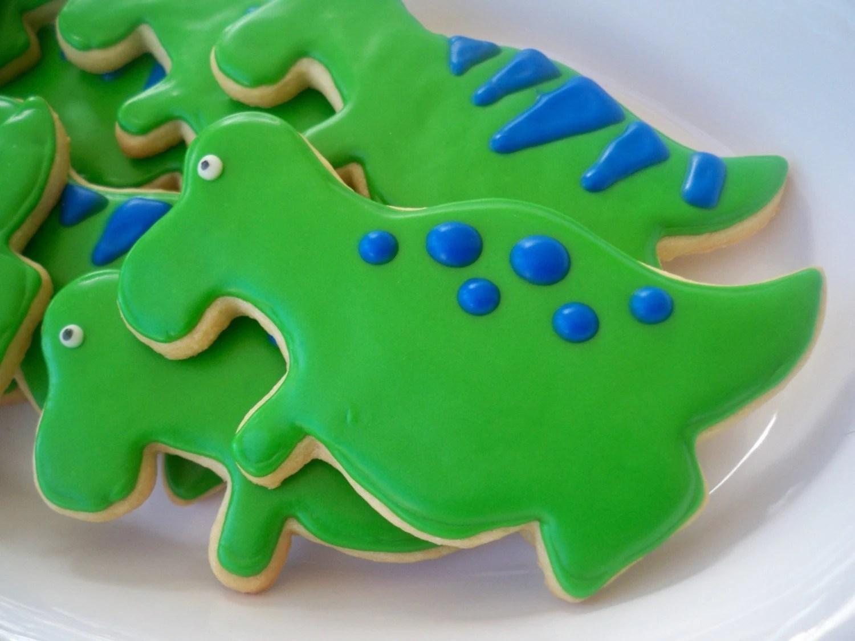 DINOSAUR cookie favors, Dinosaur Party Favors, Dinosaur sugar cookies