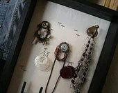 Shadowbox Jewelry Display Case - Handcrafted (brass)