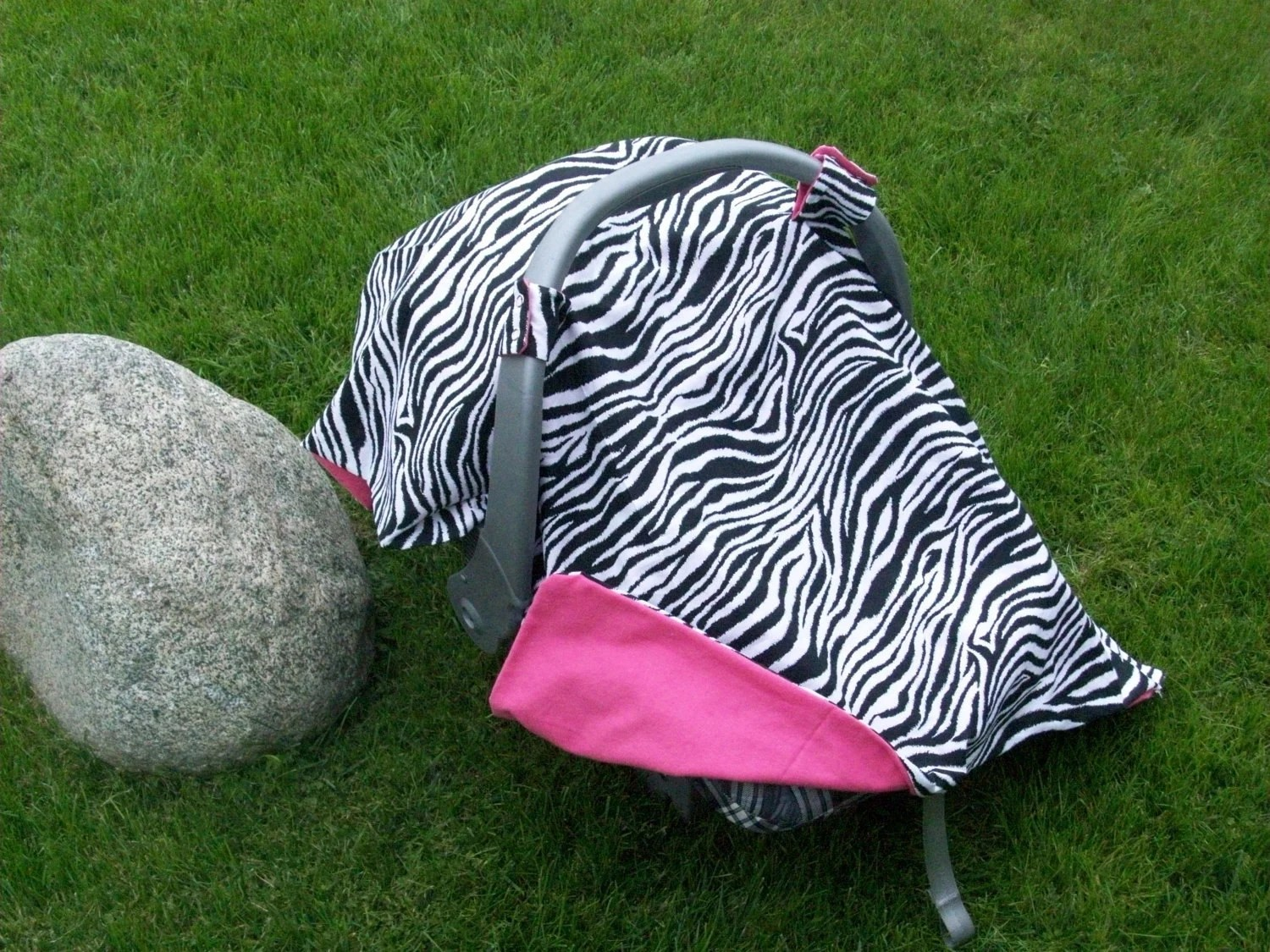Handmade Zebra Infant Car Seat Cover