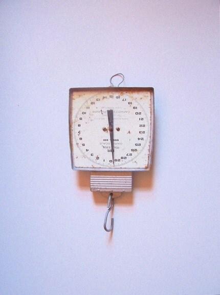 Large Vintage Metal Hanging Scale