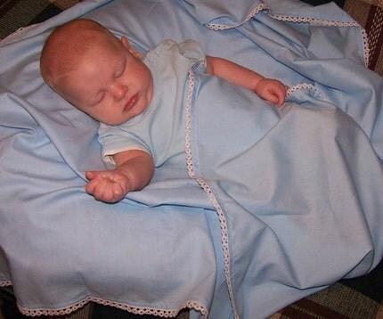 BLUE  Heirloom Blanket