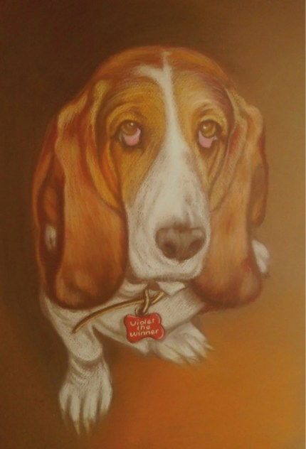 Custom-made soft pastel pet portrait