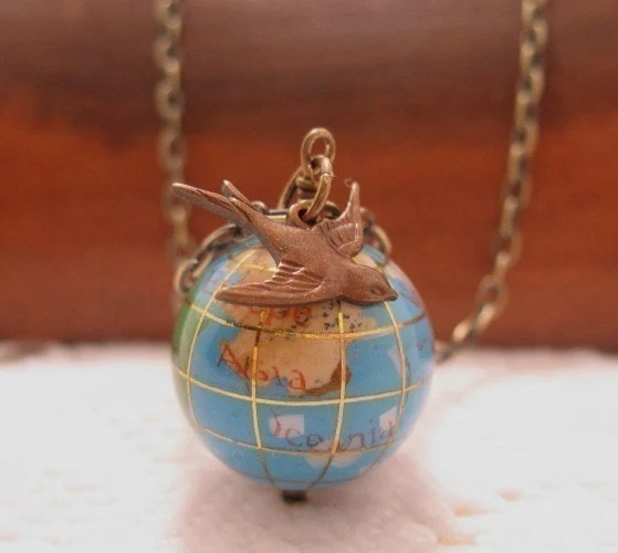 Its A Small World Glass Globe by CuteAbility