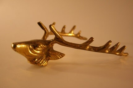 Gold Antler Wall Hook