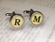 Typewriter Key Cufflinks - Design Your Own