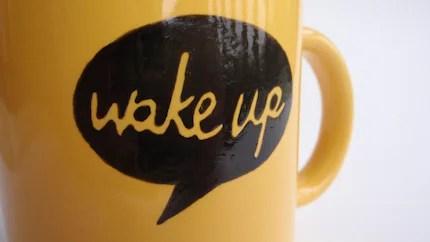 Wake Up - Talking Mug