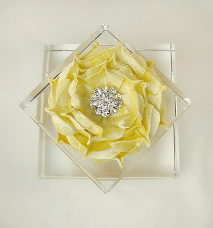 Yellow Rapture Rose Brooch
