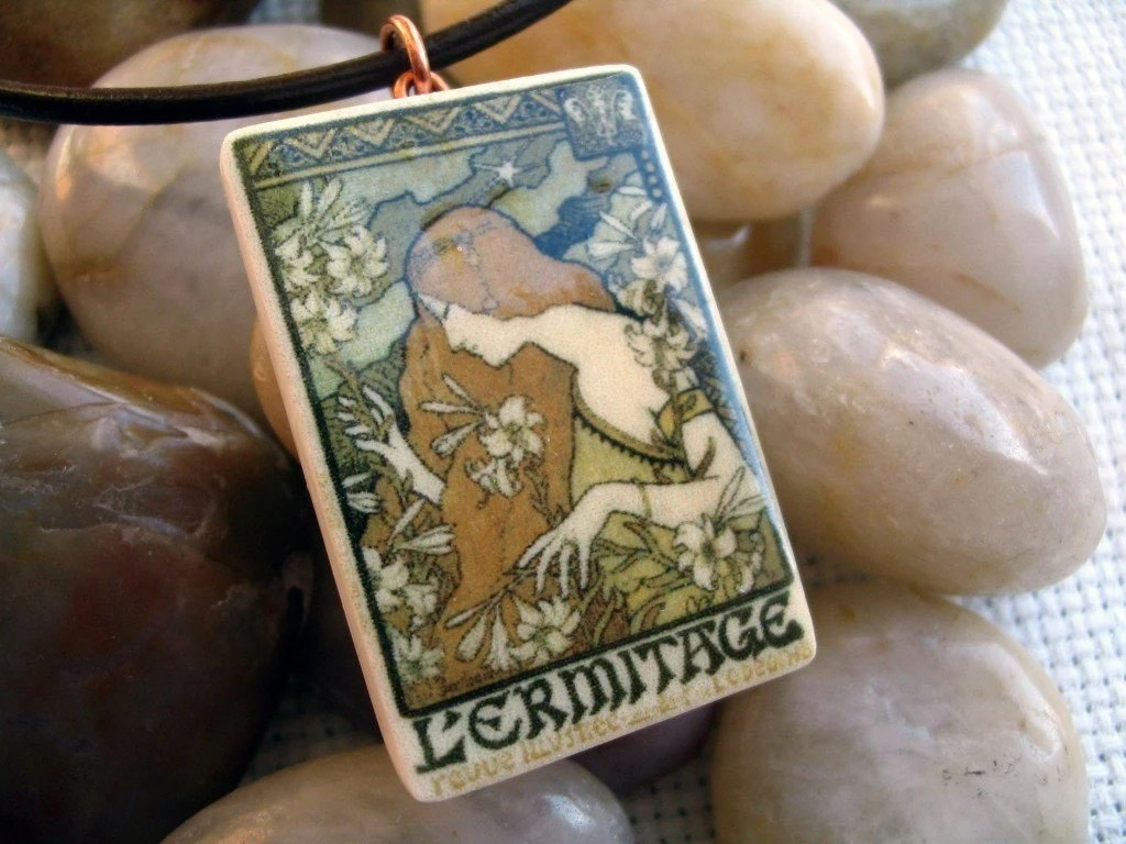 Art Nouveau French Poster Pendant -  by BlossomArts