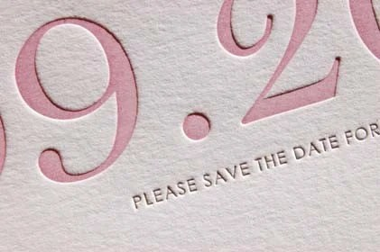Save The Date card at invitedink