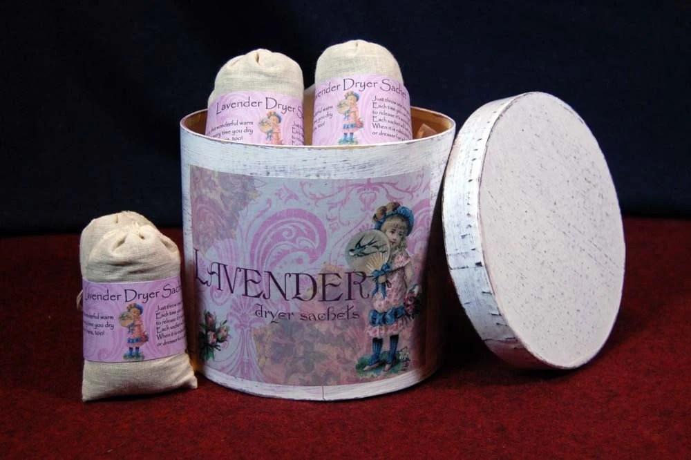 Lavender Dryer Sachets in Designer Box