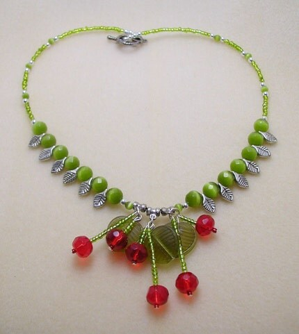 Cherry Delight Necklace and Earrings Set