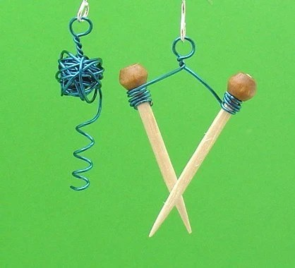 Knit the Knot Known Fraternal Earrings -- Blue