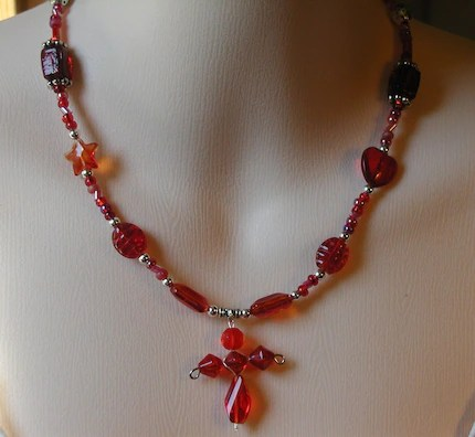 Red Wine Cross Necklace (your choice)