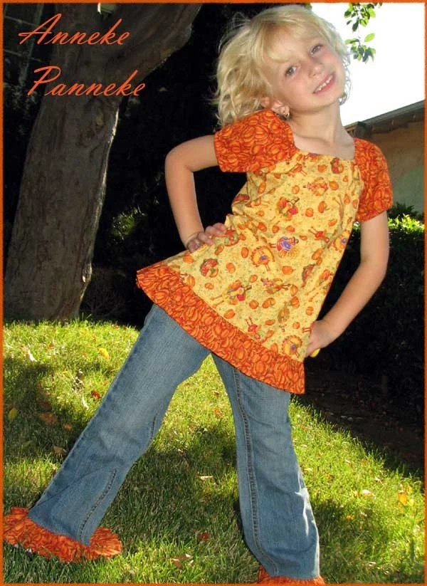 Turkey Time.....Fall Harvest...Custom Jeans Set....Size 2-5