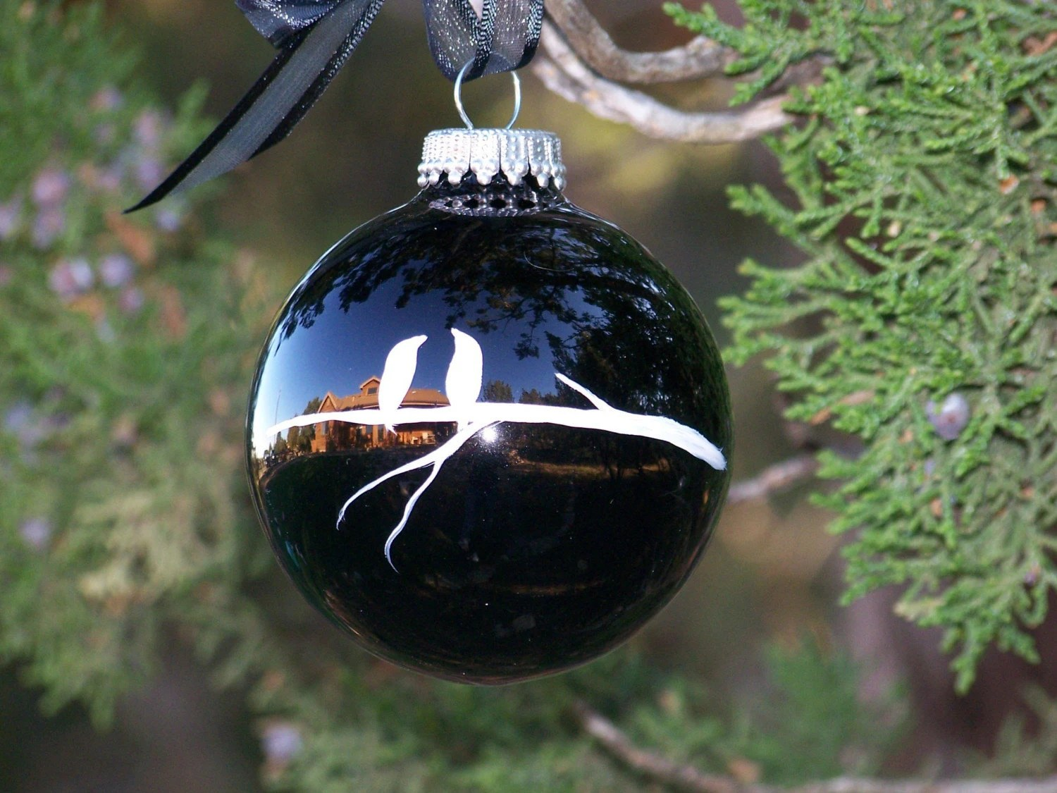 Christmas in Black Ornament, $10