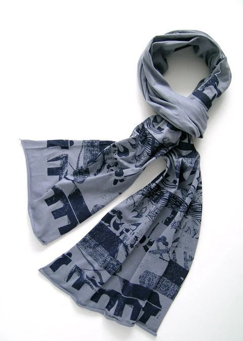 Abstract Stripe Scarf