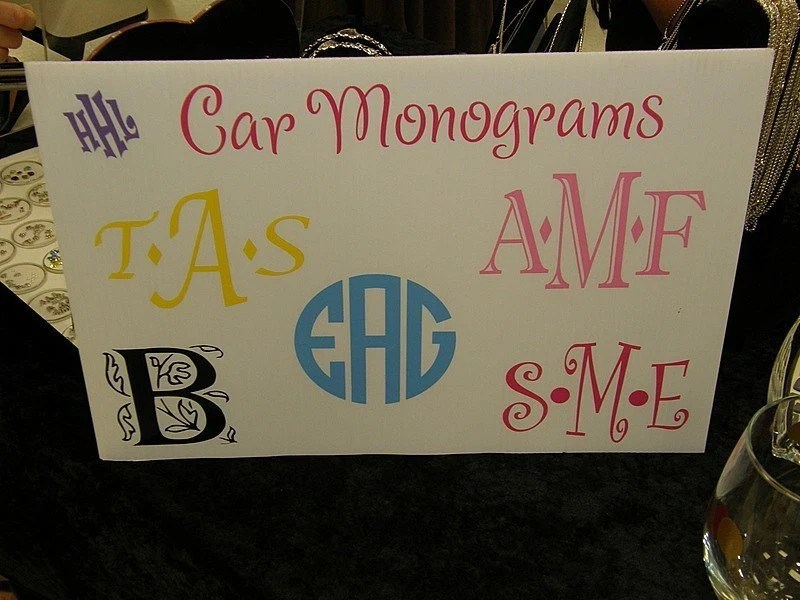 Car Monograms - Custom Design