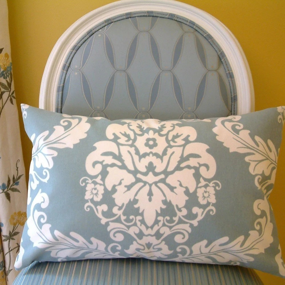 Marie Antoinette Pillow (in blue-grey)