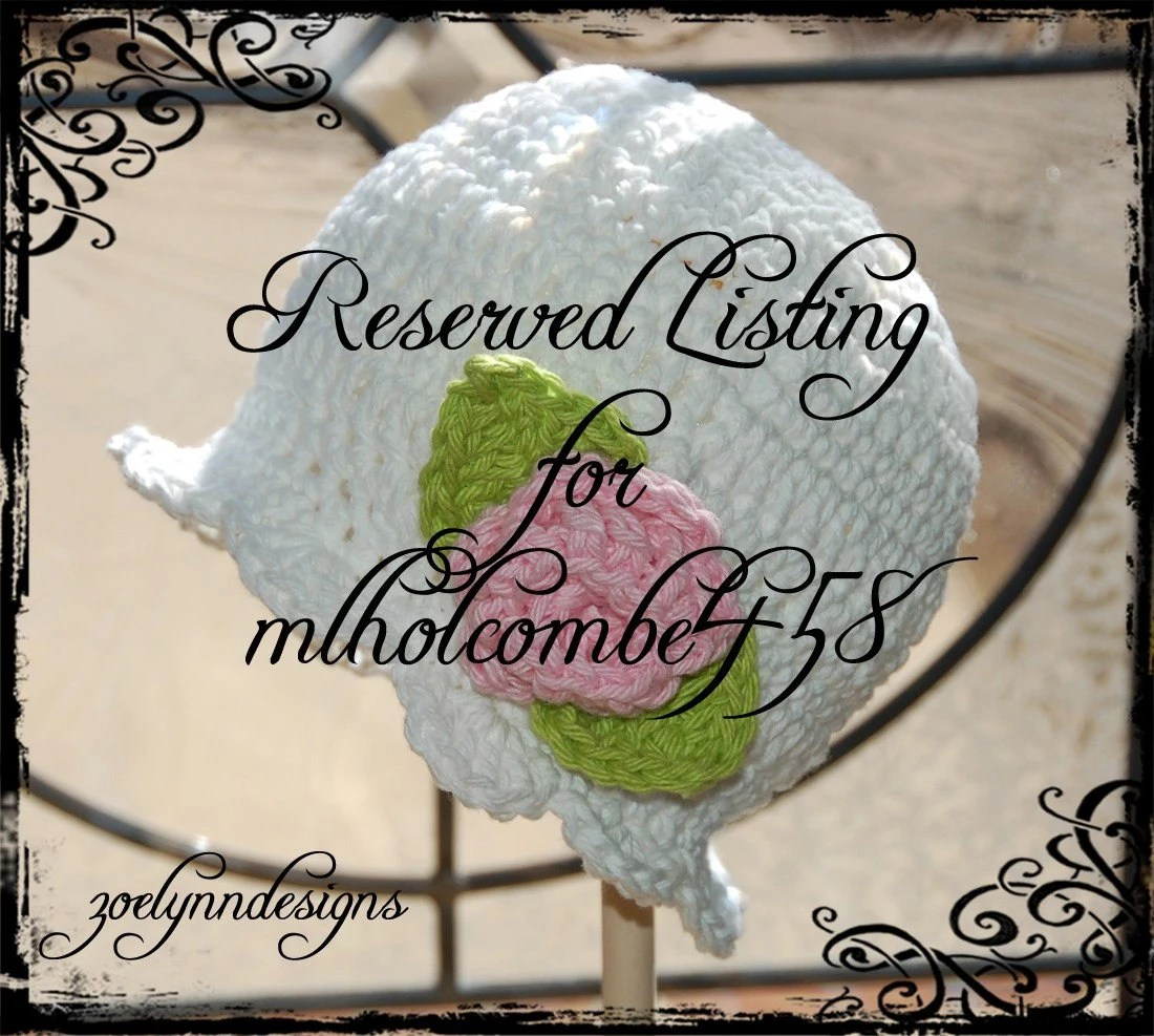 Reserved Listing for mlholcombe458