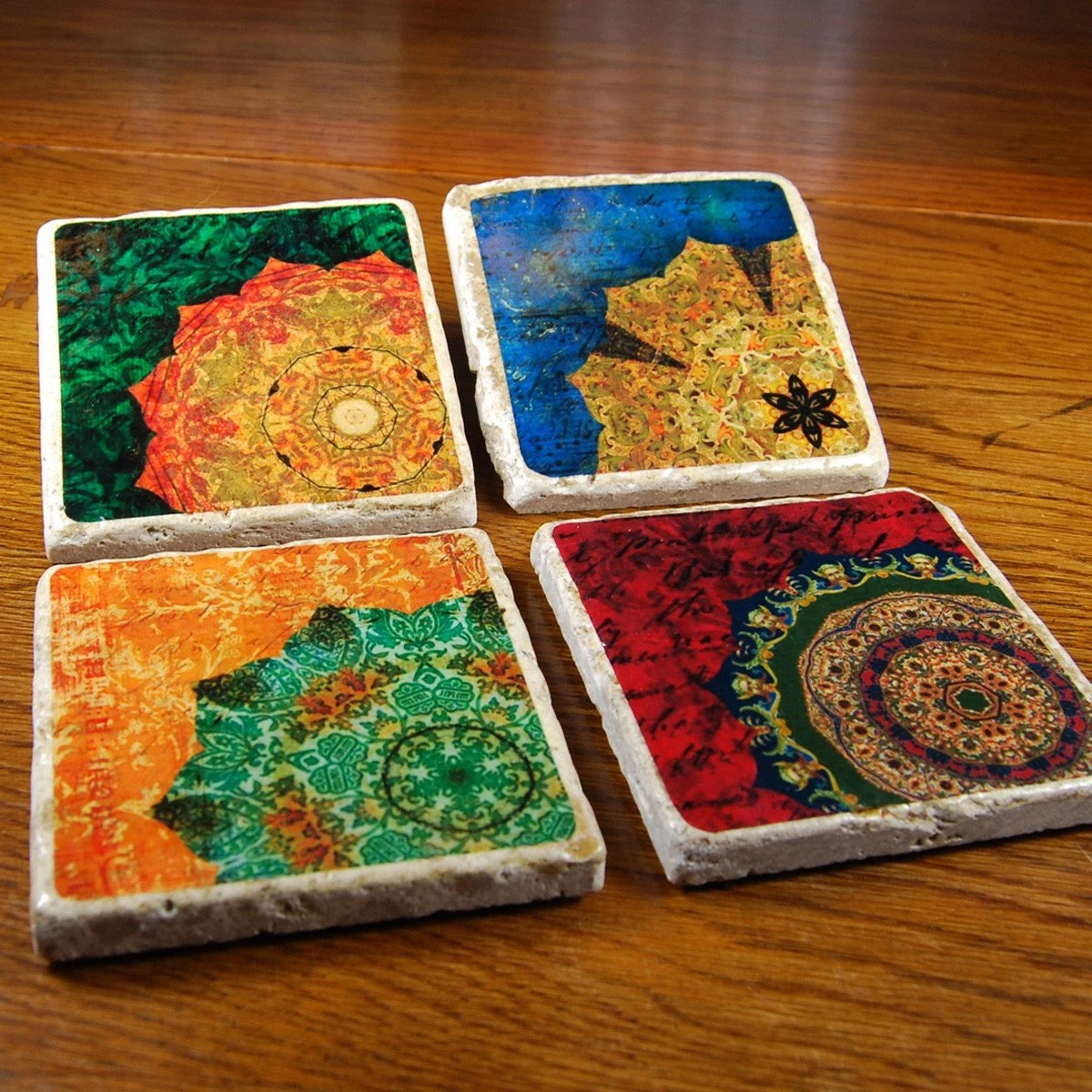 Rich Colors - stone drink coaster set