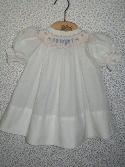 Made-to-order smocked dress
