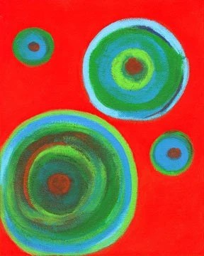 Round and Round 2 - Contemporary Abstract Painting - Betty Refour