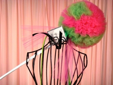 Lime Green and Raspberry Pink Whimsy Wishing Wand