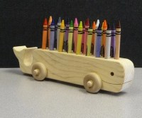 Hand-Made Wooden Crayon Holder | mamapicks.com