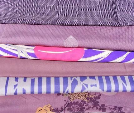 Kimono Silk Fabric Assortment #19