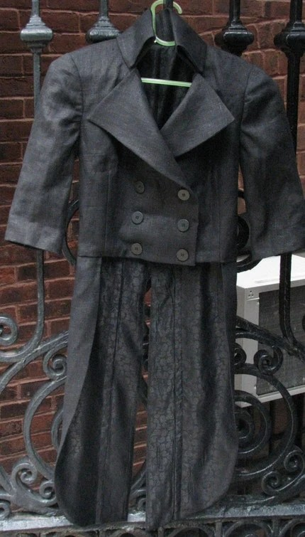 Linen Tailcoat--Handmade in Your Size