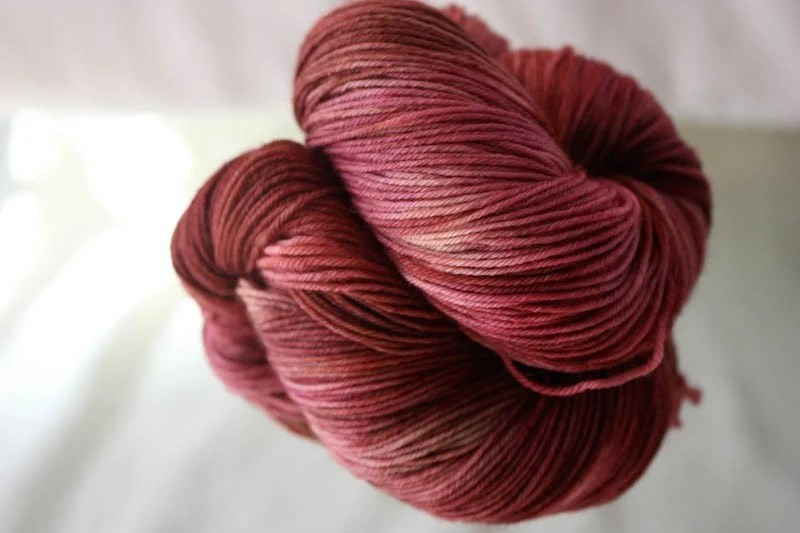 Fresh Fig Marzipan Merino Hand Dyed Sock Yarn 75-25 Merino Nylon Blend