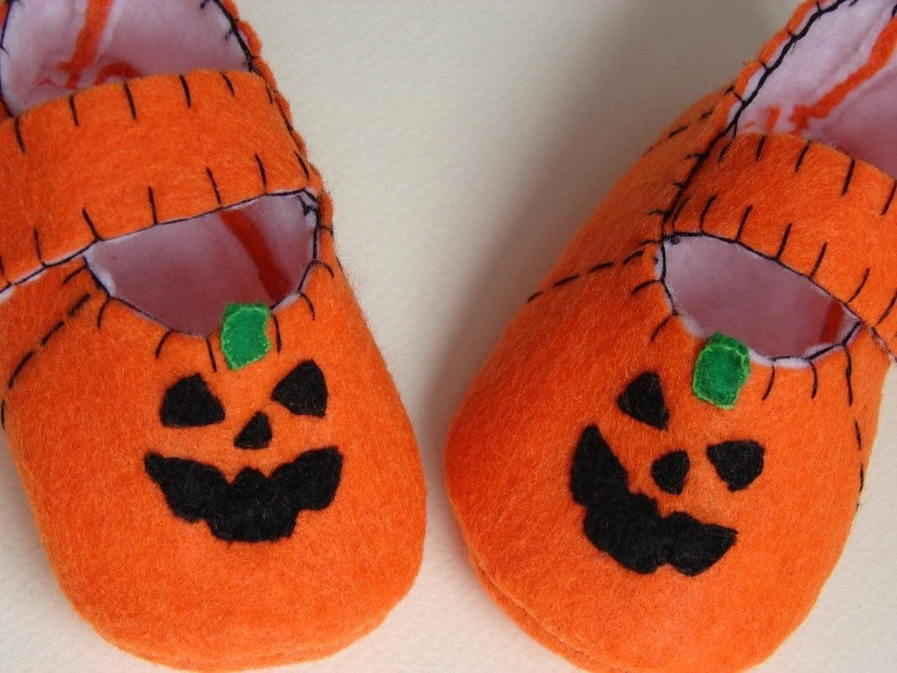 Spooky Pumpkin Baby Halloweeny Shoes/ Slippers