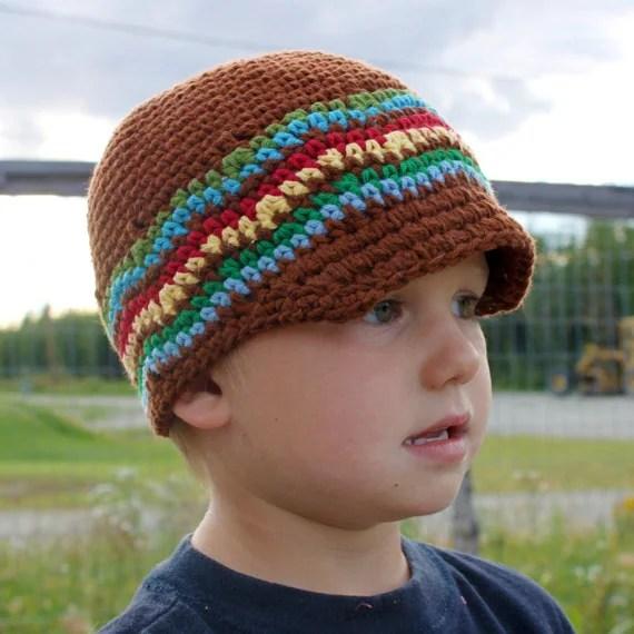 Brimley Hat PDF Crochet Pattern (Sizes Newborn to Adult)