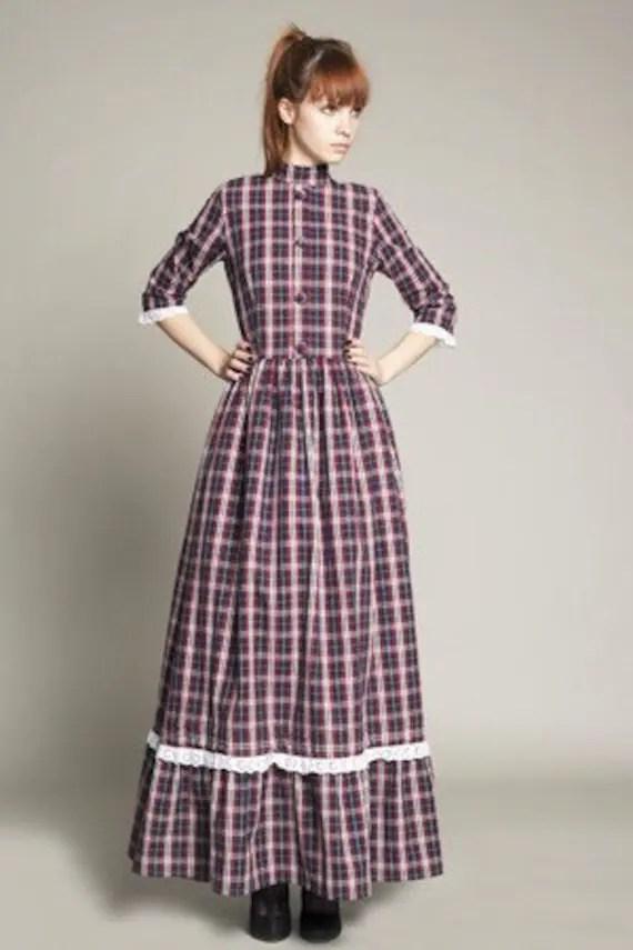 70s Hippy Victorian Maxi Dress