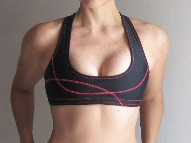 CUSTOM Galia Plunge Reversible Sports Bra